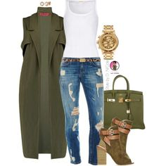 A fashion look from July 2015 featuring American Vintage tops, Boohoo jackets e Hermès handbags. Browse and shop related looks.