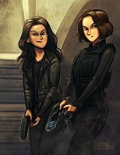 Maggie Sawyer and Alex Danvers by Dani Jones, A commissioned piece of a couple of my favorite Supergirl ladies with their guns. Supergirl 2015, Supergirl And Flash, Alex And Maggie Supergirl, The Flash Caitlin, Supergirl Drawing, Cat Grant, Anastasia Movie, Superhero Tv Series, Maggie Sawyer