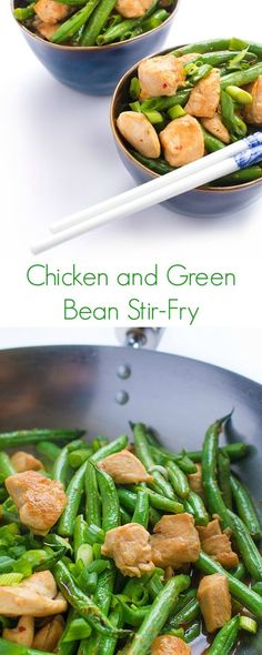 A fast, easy and healthy dinner recipe, this flavorful Chicken and Green Bean Stir-Fry comes together in just 20 minutes!