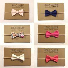 Nylon head band, baby girl nylon band, nylon bow headband, nylon, black tie bow tie by BohoCheeks on Etsy