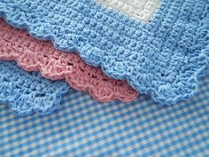 Mitered Dishcloth Shell Edge