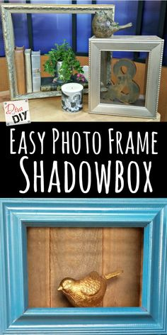 This DIY Shadow Box photo frame is so easy you'll want to make one for every room! Make everyone their own shadow box frame with this tutorial.