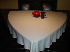 75 Beige Triangle Tablecloth For Triangle By KnotSewInnocent ·  TableclothsTrianglesDining Table