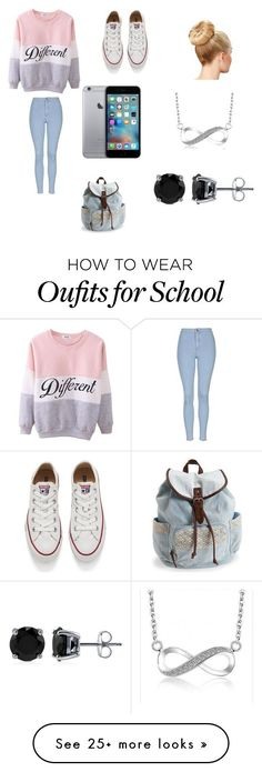 """My kind of school day"" by starbucks-is-bae123 on Polyvore featuring Topshop, Converse, Aéropostale, BERRICLE, women's clothing, women, female, woman, misses and juniors"