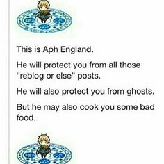 Yay APH England>>>> I'm American!! I don't mind bad food!! It's food and free protection!!!
