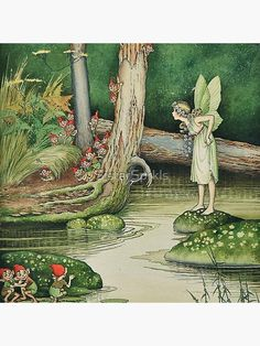 glicee print witch gifts fantasy artwork Fairy Toad Watercolor Painting Print cute animals matted hogwarts frogs cute art