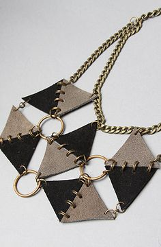 Sweet Evie The Recycled Leather Flux Necklace : Karmaloop.com - Global Concrete Culture
