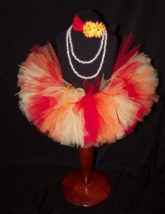 Red Orange and Yellow Girls Tutu Newborn to 4T by HarperRaeDesigns, $18.00