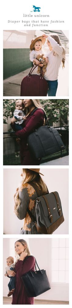 Fashionable and functional diaper bags for mom.