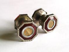 Art Deco Jem Link 1920's Vintage Snap Link by RedRavenCollectibles, $45.00