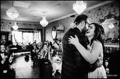 The moment they got married at The Bell in Sussex -