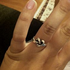 James Avery heart knot ring. I LOVE this. Size 6 3/4 or 7