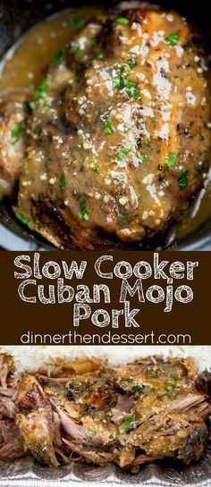 Slow Cooker Cuban Mojo Pork made with citrus, garlic, oregano and cumin takes al. - Slow Cooker Cuban Mojo Pork made with citrus, garlic, oregano and cumin takes almost no prep time a - Easy Soup Recipes, Mexican Food Recipes, Cooking Recipes, Slow Cooker Recipes Mexican, Pork Recipes Healthy Slow Cooker, Crockpot Pork Shoulder Recipes, Pork Butt Steak Recipes, Latin Food Recipes, Pork And Rice Recipes