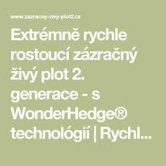 Extrémně rychle rostoucí zázračný živý plot 2. generace - s WonderHedge® technológií | Rychle rostoucí zázračný živý plot.