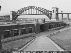 Astoria Pool, Hell Gate Bridge background. January 26, 1938