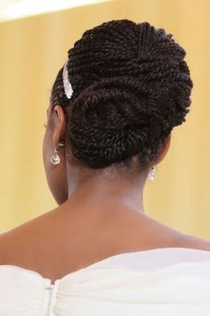 Awesome wedding updo with braids
