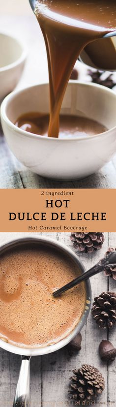 Hot Dulce de Leche ~ this decadently creamy and delicious hot caramel milk gives cocoa a run for its money ~ once you try it there's no turning back! #caramel #hotcocoa #milk #beverage #Christmas #fall #winter #Mexican #cocoa #hotchocolate #leche #hotdrink #hotmilk #milk #coconutmilk #drinkingcaramel