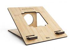 Flio Soporte, - Ultra Portable bambú Soporte de portátil para MacBook y PC portátiles: Amazon.es: Electrónica