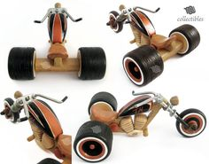 Awesome replica of a Trike Chopper, totally made out of wood! Wooden Toy Cars, Wooden Truck, Wood Toys, Miniatur Motor, Trike Chopper, Making Wooden Toys, Wood Block Crafts, Bamboo Crafts, Small Wood Projects