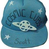 Glow-in-the-Dark Baseball Hat Craft with Space or Cub Scout Themes for Camp and Summer Fun. Summer Fun For Kids, Diy For Kids, Crafts For Kids, Cub Scouts, Girl Scouts, Murals For Kids, Hat Crafts, Diy Hat, Outfits With Hats