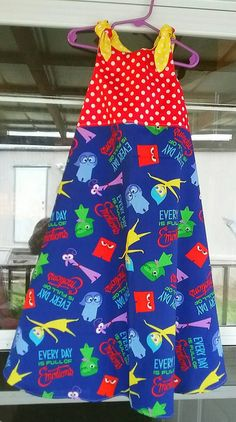 Check out this item in my Etsy shop https://www.etsy.com/listing/333811983/girls-dress-inside-out-movie-red-blue