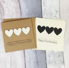 3rd anniversary card Leather wedding anniversary card Black | Etsy Happy Anniversary Husband, 3rd Wedding Anniversary, Dad Birthday Card, Anniversary Decorations, Unique Cards, Heart Cards, Custom Cards, Greeting Cards Handmade, Rose Nails