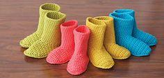 Ravelry: Slipper Boots pattern by Bernat Design Studio