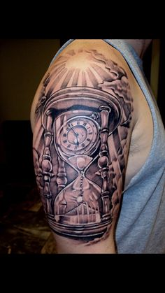 Hour glass tattoo. Watch