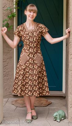 1940s House Dress Pattern by Decades of Style 30-46 bust. $20.00, via Etsy.