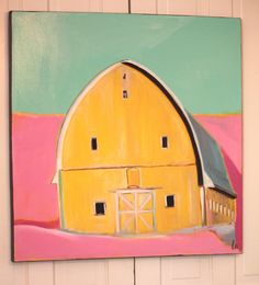 Barn painting by Lesli DeVito on Etsy. It's like looking at the barn in brilliant sunlight. Old Country Houses, Best Barns, Art Party, Old Barns, Farmhouse Chic, Heart Art, House Painting, Landscape Art, Painting Inspiration