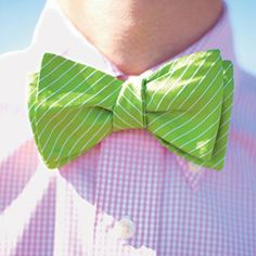 Green on a bowtie is like yellow on shoes- Rare and awesome!