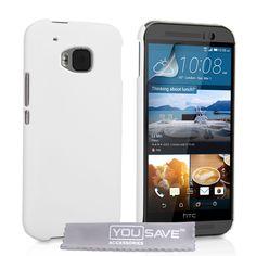 YouSave HTC M9 Hard Hybrid Case - White   Mobile Madhouse