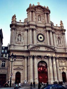 "The Church of Saint Paul - Saint Louis (known as  Église St. Paul) built 1627 - Le Marais, Paris - rue Saint-Antoine. Hugo uses the church as the setting for Cosette and Marius's nuptials in ""Les Miserables"""