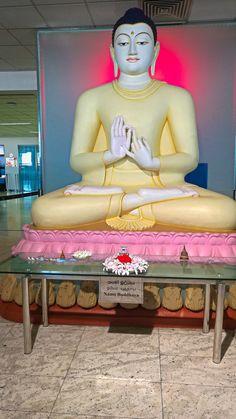 'Buddha Statue at SriLanka airport' by dewanderersoul Sri Lanka Photography, Buddha Painting, Beautiful Girl Image, Buddhist Art, Clay Art, Buddhism, Asia, Lord, Statue