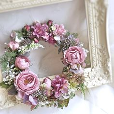 Silk Flowers, Spring Flowers, Paper Flowers, Easter Wreaths, Christmas Wreaths, Decoration Shabby, Shabby Chic Wreath, Wedding Wreaths, Summer Wreath