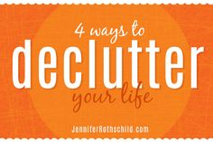 Is your life too complicated and cluttered? Some great tips from @jennrothschild to declutter your life!