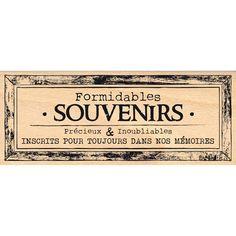Tampon bois CADRE SOUVENIRS POUR TOUJOURS