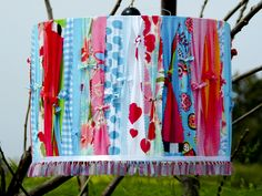 another fab upcycled fabric lampshade