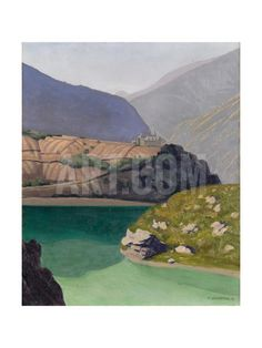 Lake Geronde, Sierre, 1919 Giclee Print by Félix Vallotton at Art.co.uk