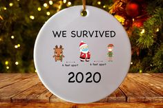 2020 Funny 6 Feet Christmas Quarantined 2020 Christmas | Etsy Christmas Humor, Christmas Bulbs, Christmas Letters, Office Xmas Gifts, Secert Santa, Friends Tv Show Gifts, Office Parties, Gift Quotes, Mother Day Gifts