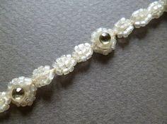 Antique Frenchr rinestones  ribbon   Trim  por ElTallerAnaGaspar