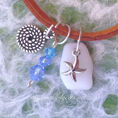 By the Sea Sea Glass Charm Necklace created by P. Quinn of My Found Objects