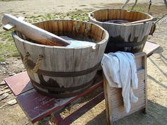 laundry day was sometimes like this until Grandma got an old wringer/washer