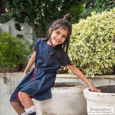 Ice cream and Denim…she loves both! Stylish denim dress for little Girls...  Avail 15% off on shopping above INR 999.Use coupon code 'XMAS15' at checkout.  . . . #shopotox #kidswear #Denim #stylish #trendy #onlineshopping #fashion #fashionblogger #fashiondiaries #shopaholic #littlegirls #instakids #fashionchildren #dressforgirls #fashionkids