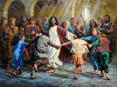 God wants be part of our lives in every way and for us to be happy. Dance of Grace. Mark Keathley Art Gallery