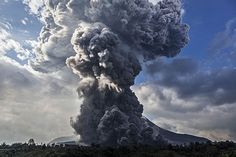 Summer Weather 2015 Indonesia Mount Sinabung Indonesia's Mount Sinabung also erupted this summer, spewing tons of ash, smoke and rock. Source: Daily Mail
