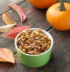 After carving out your pumpkin, the worst thing you can do is throw out the pumpkin seeds. Instead, you should save the pumpkin seeds to make this recipe for The Best Ever Roasted Pumpkin Seeds. Halloween Recipe, Halloween Desserts, Halloween Treats, Candy Recipes, Dog Food Recipes, Dessert Recipes, Roasted Pumpkin Seeds, The Best, Gluten Free