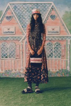 Anna Sui Spring 2021 Ready-to-Wear Collection - Vogue Fashion Week, New York Fashion, Runway Fashion, Spring Fashion, Fashion Show, Female Fashion, Daily Fashion, Street Fashion, Fashion Trends