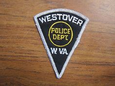 obsolete 1970' Westover WV Police Dept.  Monongalia Co.  West Virginia  triangle