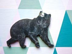 Broschen - Waldfreund ❥ Bär Holz Brosche Anstecker - ein Designerstück von MiMaMeise bei DaWanda